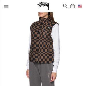 stussy sabi checker puffer vest